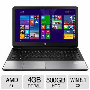 "HP 4GB DDR3, 500GB HDD, 15.6"" Windows 8.1 Laptop"