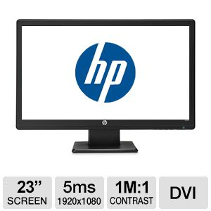 "HP 23"" LED Backlit Monitor - 5ms"