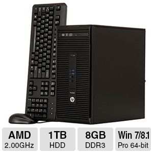 HP ProDesk 405 G2 8GB DDR3, 1TB HDD, Desktop PC