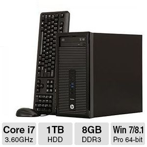 HP ProDesk 400 G1, Core i7, 8GB DDR3, 1TB HDD, Desktop PC