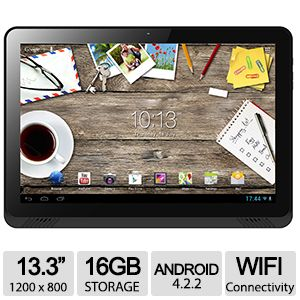 "Hannspree 13.3"" Quad Core Tablet PC"