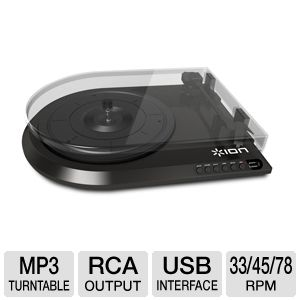 ION IT28 Quick Play Flash Conversion Turntable