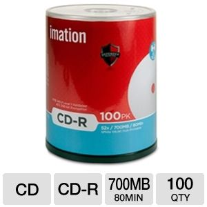Imation 27845 Defender 100 Pack 52X Printab REFURB