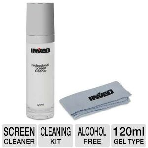 Inveo 120ml Screen Cleaner with Microfiber Cloth