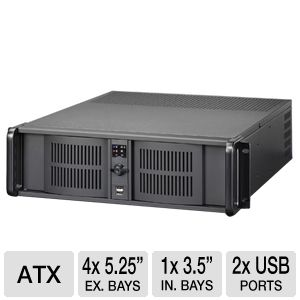 iStarUSA D-300 Black 3U Rackmounted Server Case
