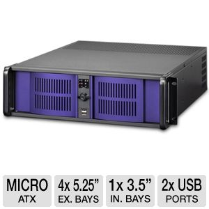 iStarUSA D-300 Blue 3U Rackmounted Server Case