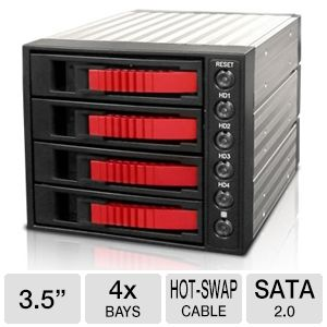 iStarUSA BPU-340SA-RED SATA Hot-Swap Raid Cage