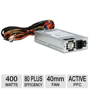 iStarUSA 1U 80 Plus Switching 400W Power Supply