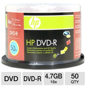 HP 50 Pack 16X DVD-R Spindle