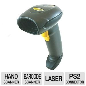 Wasp WLS 9500 Laser Barcode Scanner with PS2 Cable