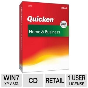 Intuit Quicken Home &amp; Business 2012 Software 