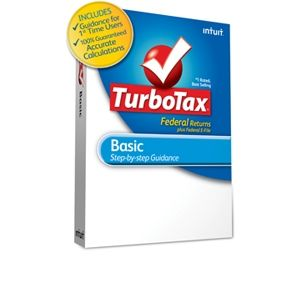 Intuit TurboTax Basic Tax Preparation Softw REFURB
