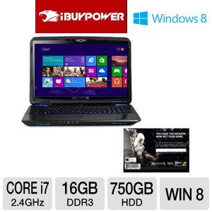 iBUYPOWER 17.3&quot; Core i7 Gaming Laptop w/ AC3 DL