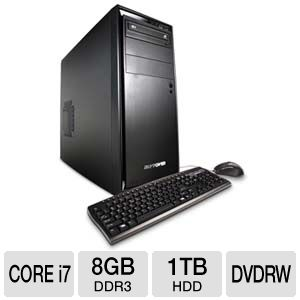 iBUYPOWER 950D3 i7-2600 8GB, 1TB GeForce GTX 550