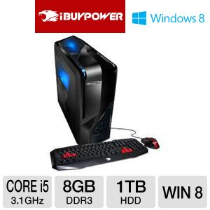 iBUYPOWER POWER Core i5 1TB HDD 8GB DDR3 Gaming PC