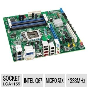 Intel BOXDQ67SWB3 Socket H2 Desktop Motherboard
