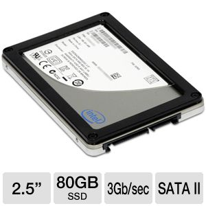 "80GB Intel X25-M MLC 2.5"" SATA II Internal Solid State Drive (SSDSA2MJ080G2C1) $39.99 AR"