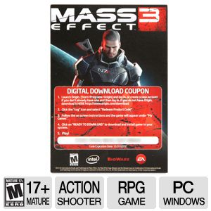 EA Mass Effect 3 Action RPG Download Video Game