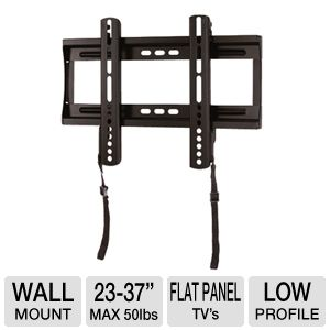 Interion Low-Profile TV Wall Mount - 23-37&quot; Panels