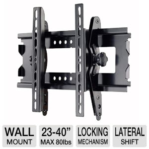 "Interion Medium Tilt Mount For 23-40"" TVs"