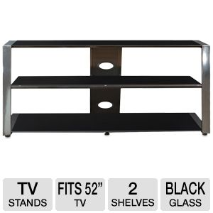 Cravin TDUCP48 Wood Glass HDTV Stand