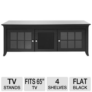 Cravin TDERC60B 60in Black A/V Credenza