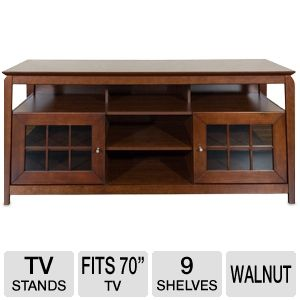 Cravin TDYAB6028 Walnut Finish AV HDTV Credenza