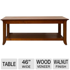 "Cravin 46"" Wide Coffee Table in Walnut"