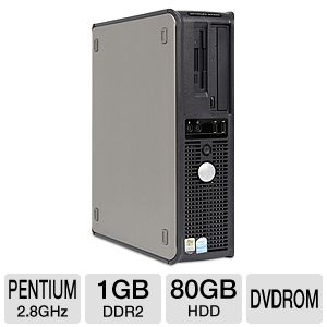 Dell Optiplex GX520 Desktop PC - Intel Pentium D 2.8GHz, 1GB DDR2, 80GB HDD, ...