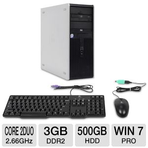 HP Compaq dc7900 Core 2 Duo 500GB HDD Desktop PC