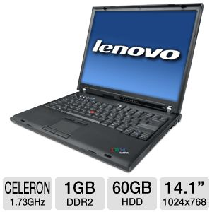 Lenovo ThinkPad R60 Celeron 60GB HDD Notebook