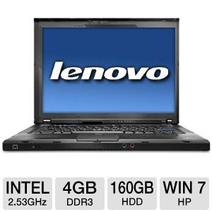 "Lenovo ThinkPad 14.1"" Core 2 Duo 160GB Notebook"