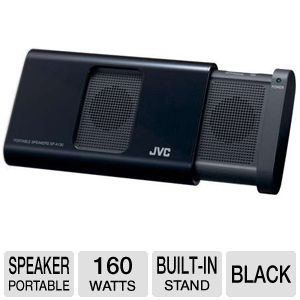 JVC SPA130B Portable Compact iPod Speaker