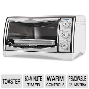 Black & Decker Chrome Plated Rack Toaster Oven