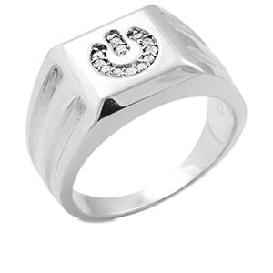 Mens Power Ring - Diamonds Sterling Silver