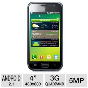 Samsung I9000 Galaxy S Unlocked GSM Cell Phone
