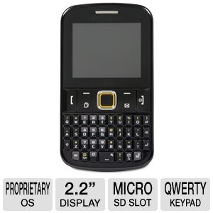 Samsung Ch@t 222 QWERTY Black Unlocked Cellphone