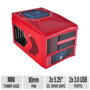Thermaltake Armor A30I Micro ATX Red Case