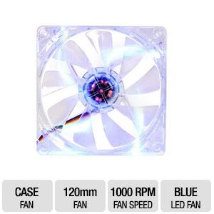 Thermaltake Pure 12 Blue 120mm LED DC Case Fan