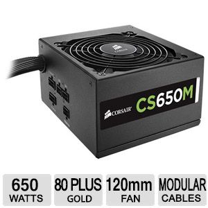 Corsair CS Series CS650M 650 Watt Modular Power Supply
