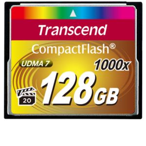 Transcend� 1000x CompactFlash�  128GB Card