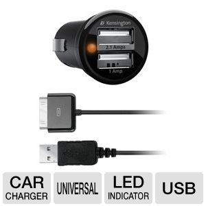 Kensington K33497US PowerBolt Duo Car Charger