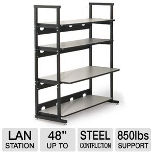 "Kendall Howard 48"" Heavy Duty 4 Post Lan Rack"