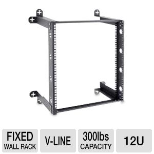 Kendall Howard V-Line 12U Fixed Wall Rack