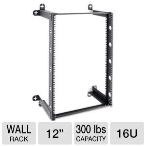 Kendall Howard V-Line 16U Fixed Wall Rack