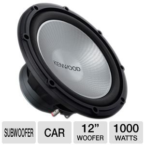 "Kenwood 36Hz-300Hz 12"" Subwoofer"