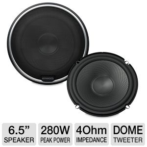 Kenwood 6.5&quot; Component Speaker System