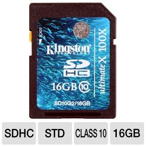 Kingston UltimateX 100X SDHC Memory Flash Card