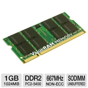 Kingston 1GB DDR2-667MHz Laptop Memory Module