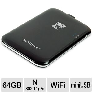 Kingston Wi-Drive 64GB Wireless Hard Drive